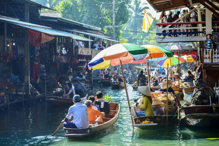 Shop till you drop at Thailand's floating market