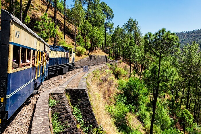 Toy train of Kalka-Shimla Railway built in 1898