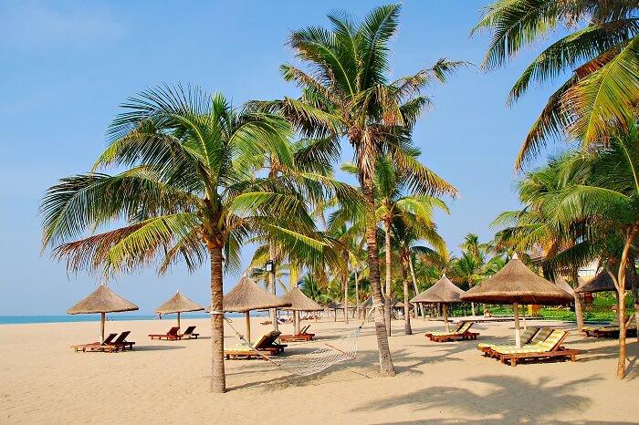 Tropical beach paradise of Sanya in Hainan Province of South China