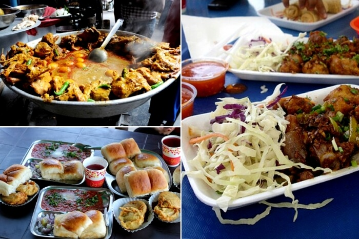 A mix of North Indian and South Indian fast food joints in Sindhi Colony