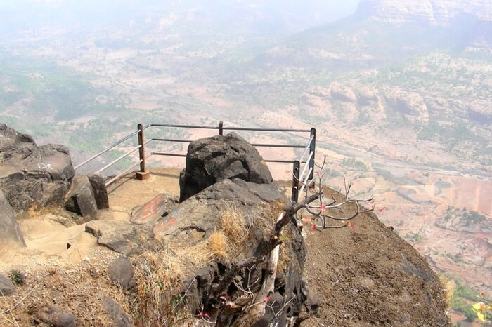 Top view of Raigarh Fort in Takmak Tok
