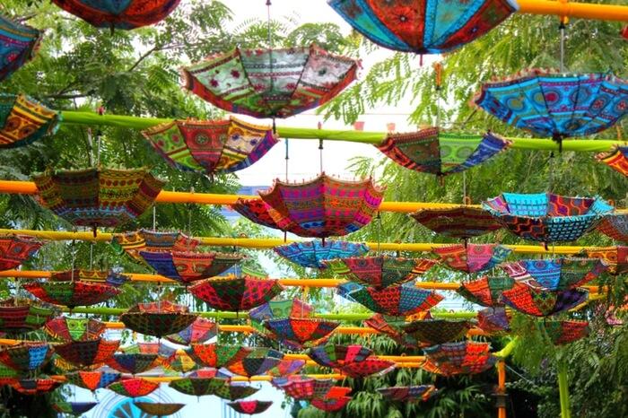 Beautiful prop set up at Jaipur Literature Festival