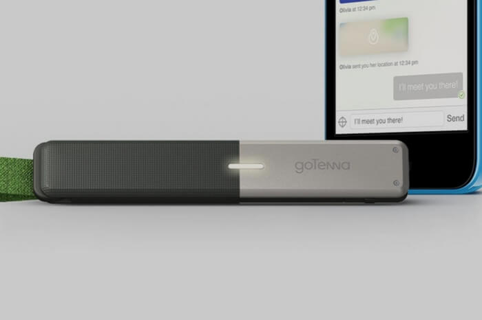 goTenna device - it helps keep a tab on fellow travelers