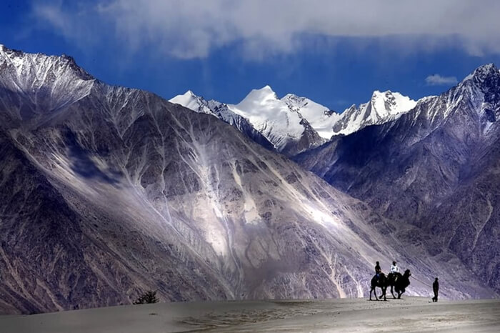 Adorable Nubra valley in winter