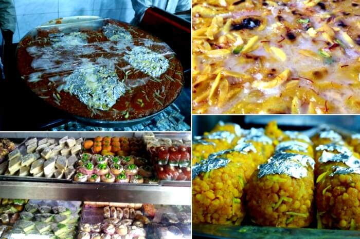 Sweets and Jauzi Halwa at Hameedi Confectionaries