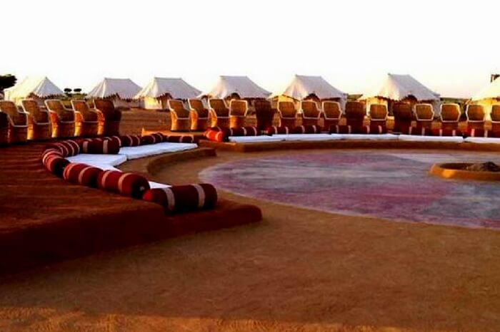 The huge activity area of Desert Safari Camp