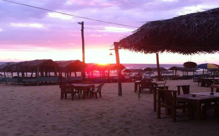Sunset in Yula Beach Bar