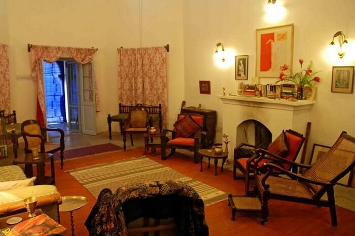 The royal sitting area at the Ajmer Bungalow