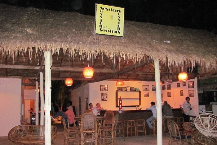 The Sessions shack-cum-bar on one of the beaches of Sihanoukville in Cambodia