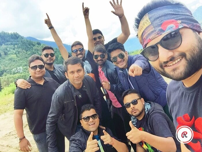 Sumit and his friends on a trip to Ladakh