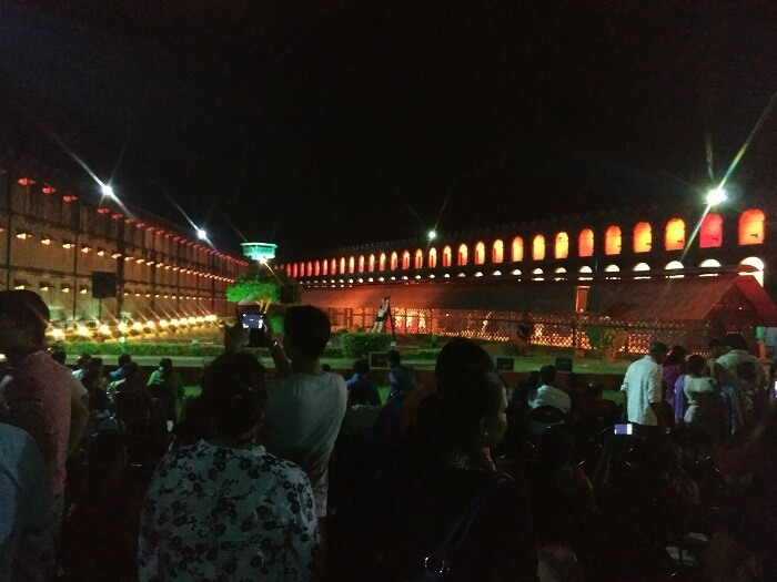 Sound and light show in Cellular Jail in Port Blair
