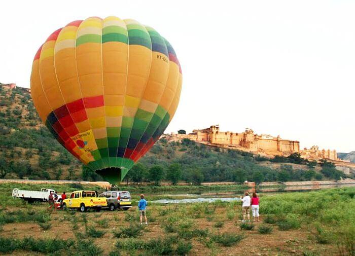 hot air balloon jaipur