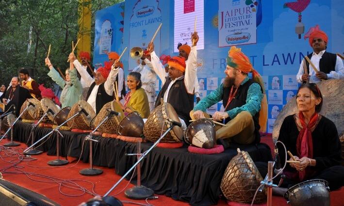 Musical performances at Jaipur Literature Festival