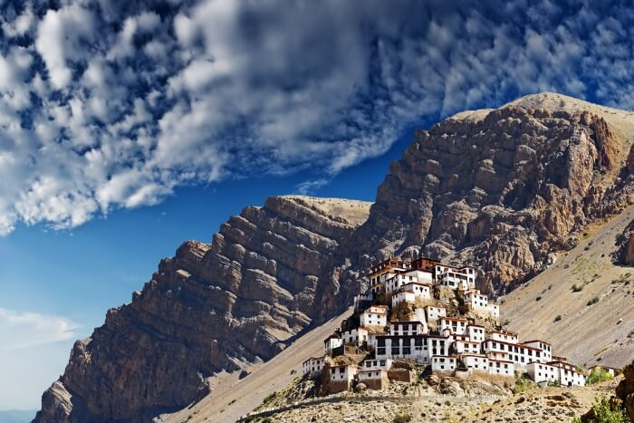Key monastery in himalayas mountain