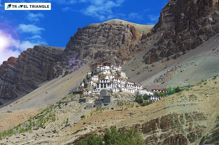Beautiful Ki monastery in Spiti valley
