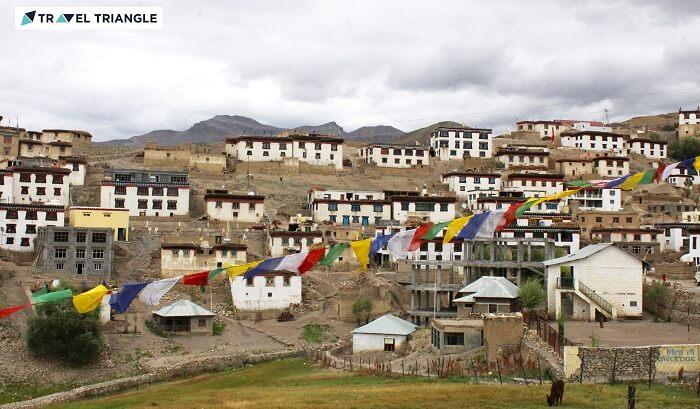 Beautiful Kibber village in Himachal