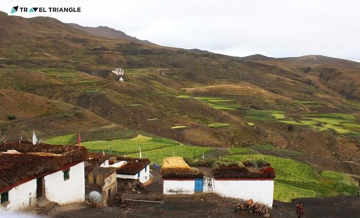 Beautiful Komic village in Himachal
