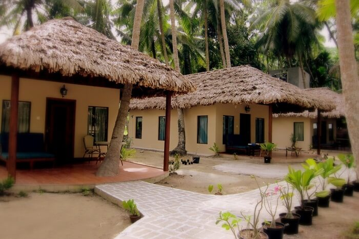 The quaint cottages at the Munjoh Ocean Resort that is one of the best resorts and hotels in Havelock