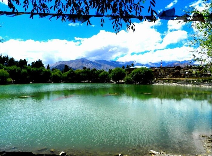 Beautiful Nako lake in Himachal