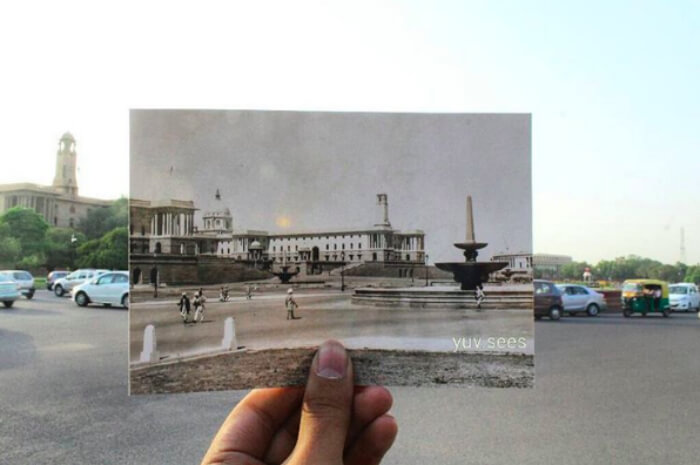 What Rashtrapati Bhavan looked back then vs what it looks now