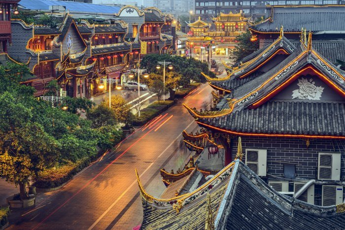 Drive past traditional Chinese huts when in China