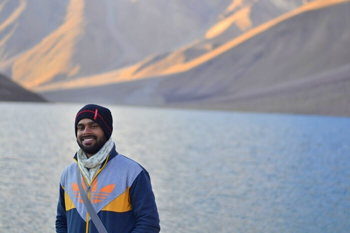 Shubham at Chandratal Lake