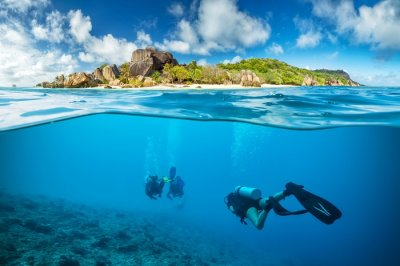 Scuba diving is one of the most adventurous things to do in Seychelles