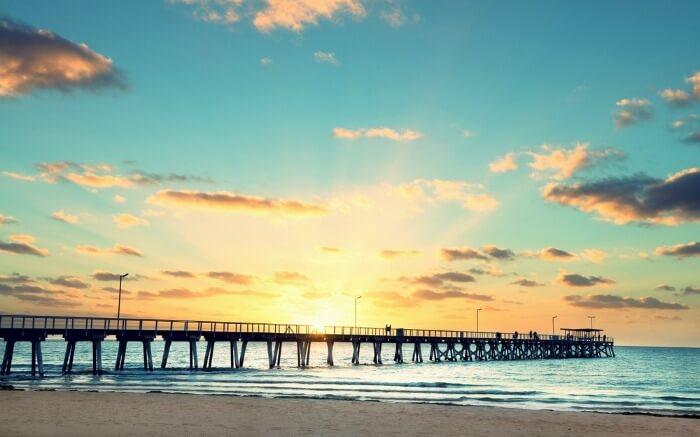 Sunset in Grange Adelaide in South Australia