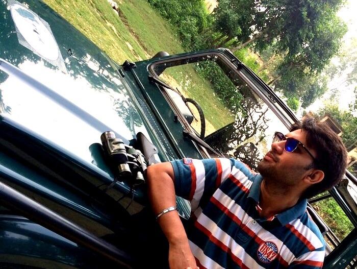 Karan in Ramnagar for Tiger Safari