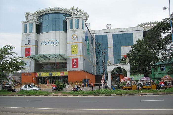 A shot of the Oberon Mall in Kochi taken from across the street