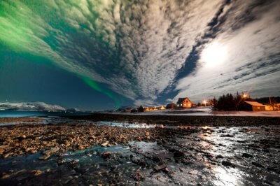 Aurora borealis occurring in Norway