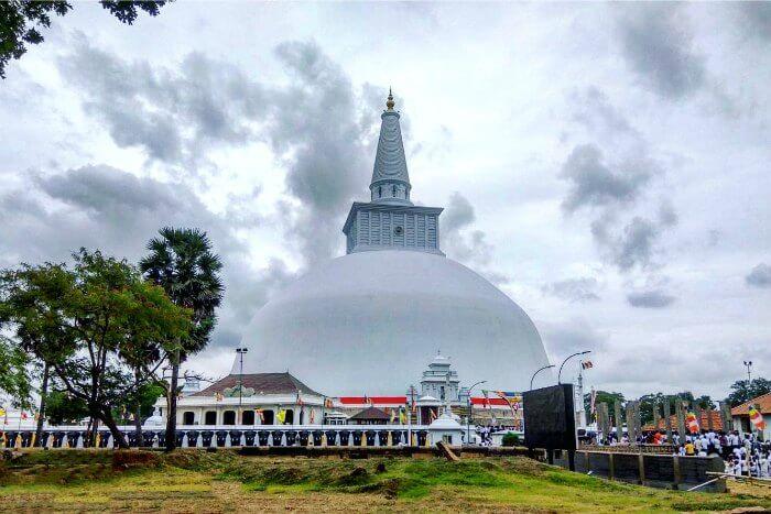 Ruwanweliseya, a peace pagoda in sri lanka