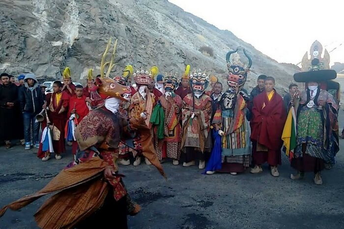 Locals in Ladakh celebrating Gustor in high spirits