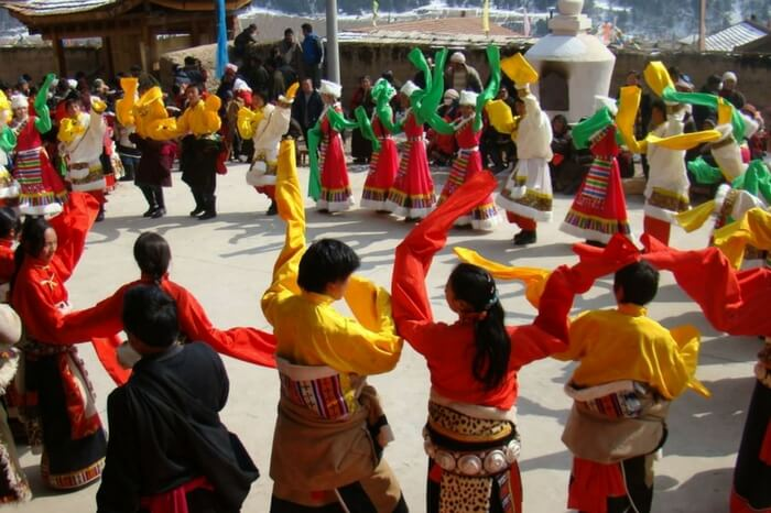 People of Ladakh celebrating Losar together
