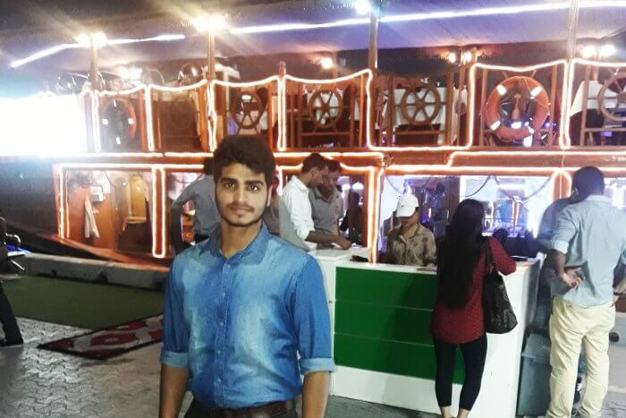 abhinav's brother before the dhow cruise