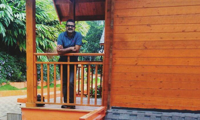 Anuj at his hotel in Munnar