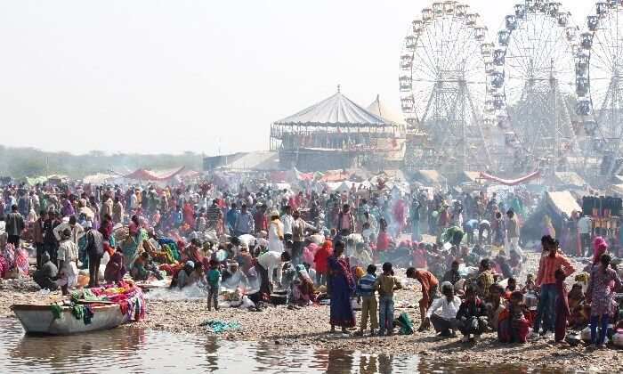 A scene from the Baneshwar festival in Rajsthan