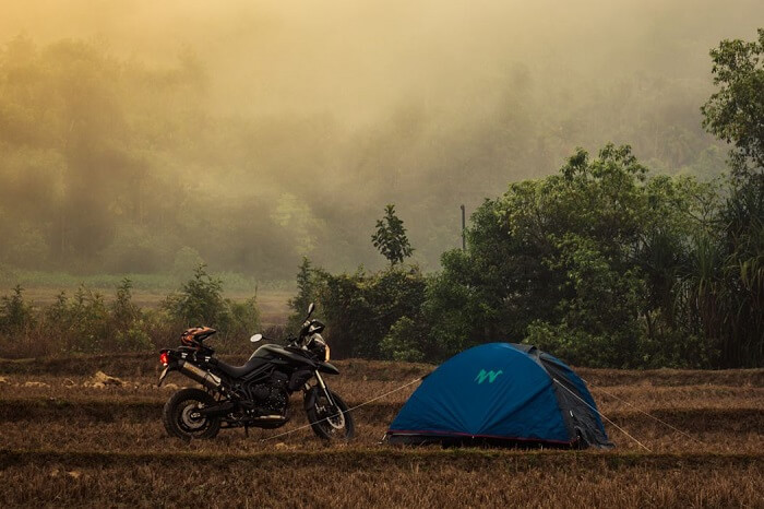 A bike ride from Bangalore can take the travelers to the camp site in Sakleshpur