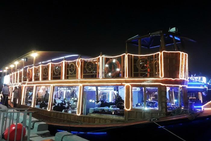 sailing on the show cruise in dubai