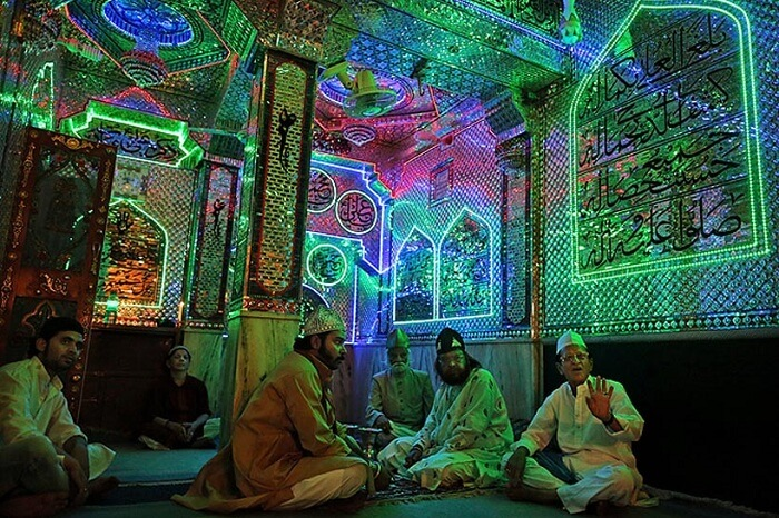 A qawwali session at Ajmer Sharif during the Urs Festival