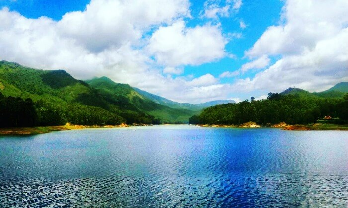 the views we saw while boating in periyar lake