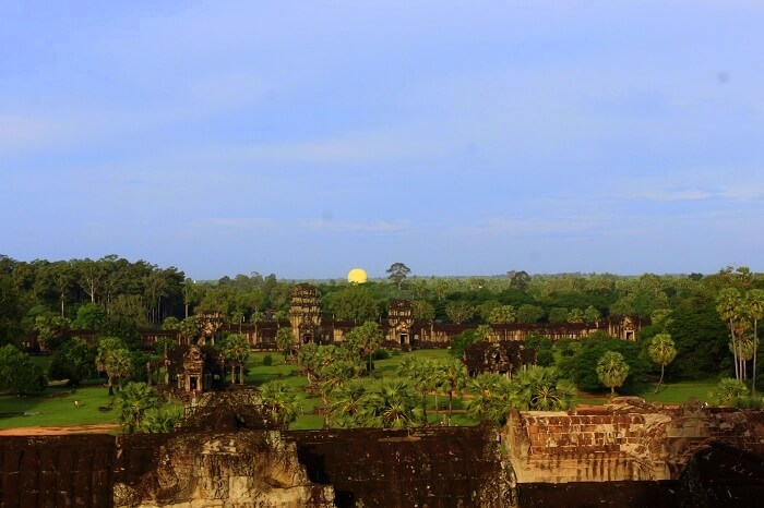 Sunrise view from the Angkor Wat Temple