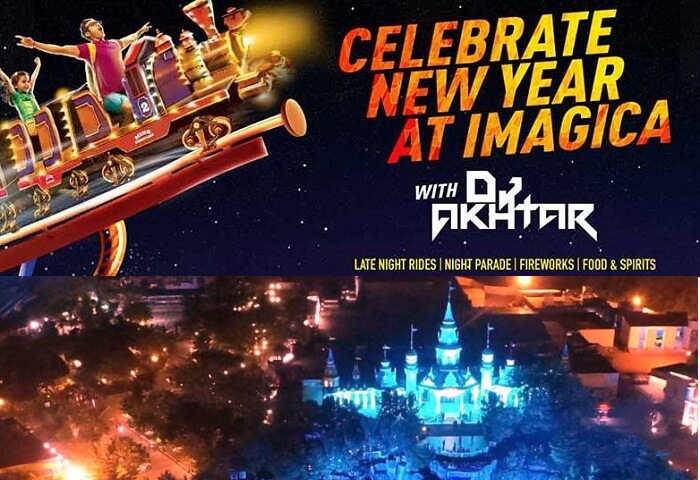 A promotional poster of the New Year Party at Adlabs Imagica