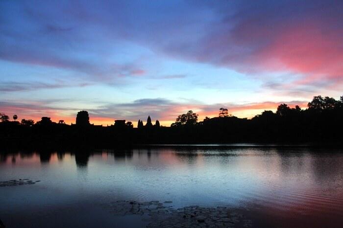 Morning sky in Angkor Wat Temple