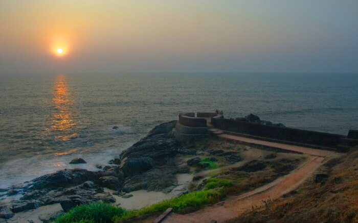 Sunset from Bekal Fort which is one of the largest forts in India