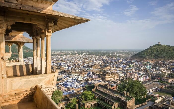 A view of Bundi city from Bundi's Palace