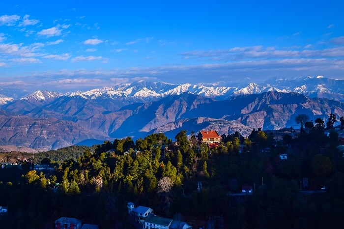 A panoramic shot of Dalhousie