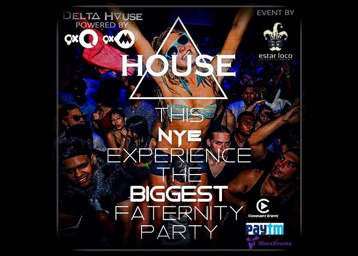 A promotional poster of the New Year Party at Delta House in Mumbai
