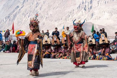 The celebrations of Galdan Namchot that is one of the must-attend festivals in India in December