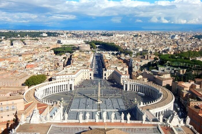 Stunning view of the Vatican